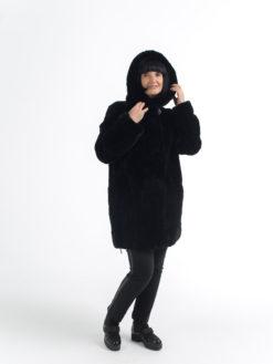 куртка из меха кролика-рекс 059